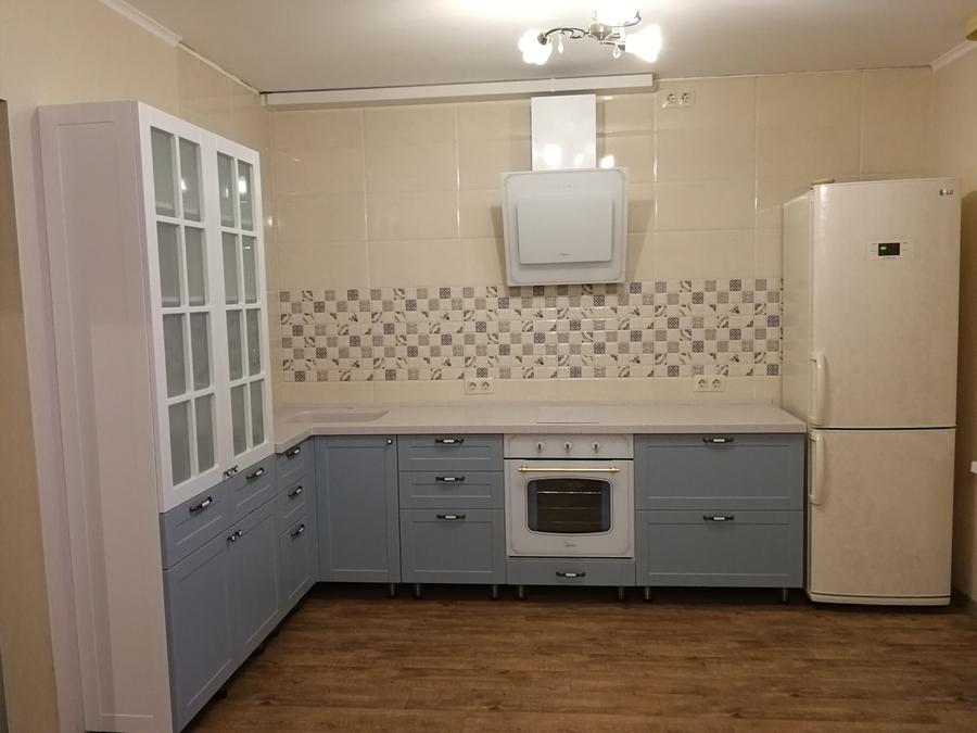 Классические кухни-Кухня МДФ в ПВХ «Модель 28»-фото2