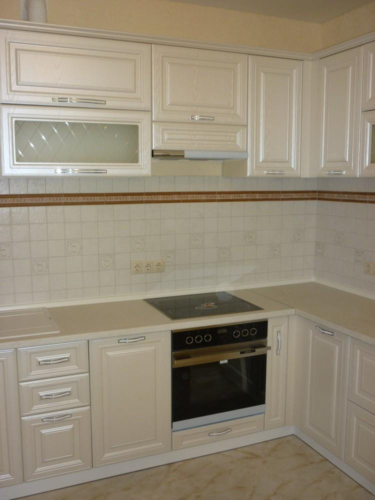 Белый кухонный гарнитур-Кухня МДФ в ПВХ «Модель 213»-фото4