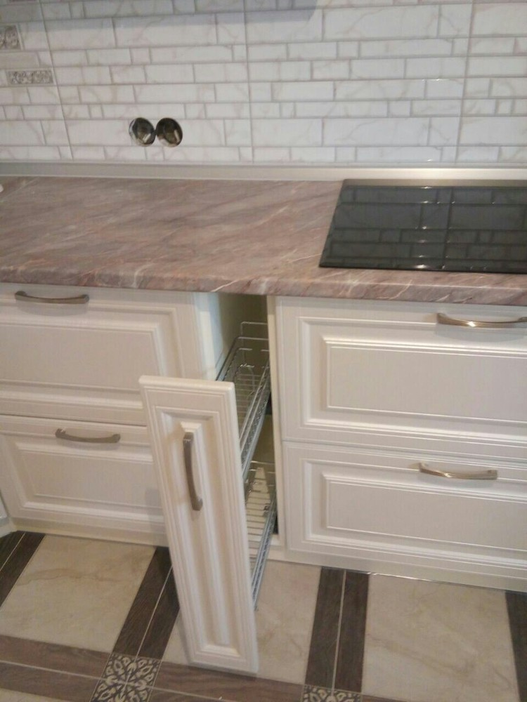 Белый кухонный гарнитур-Кухня МДФ в ПВХ «Модель 228»-фото5