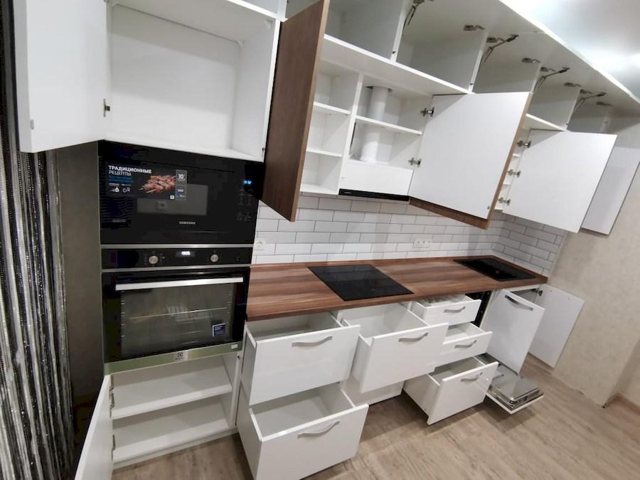 Белый кухонный гарнитур-Кухня МДФ в ПВХ «Модель 577»-фото6