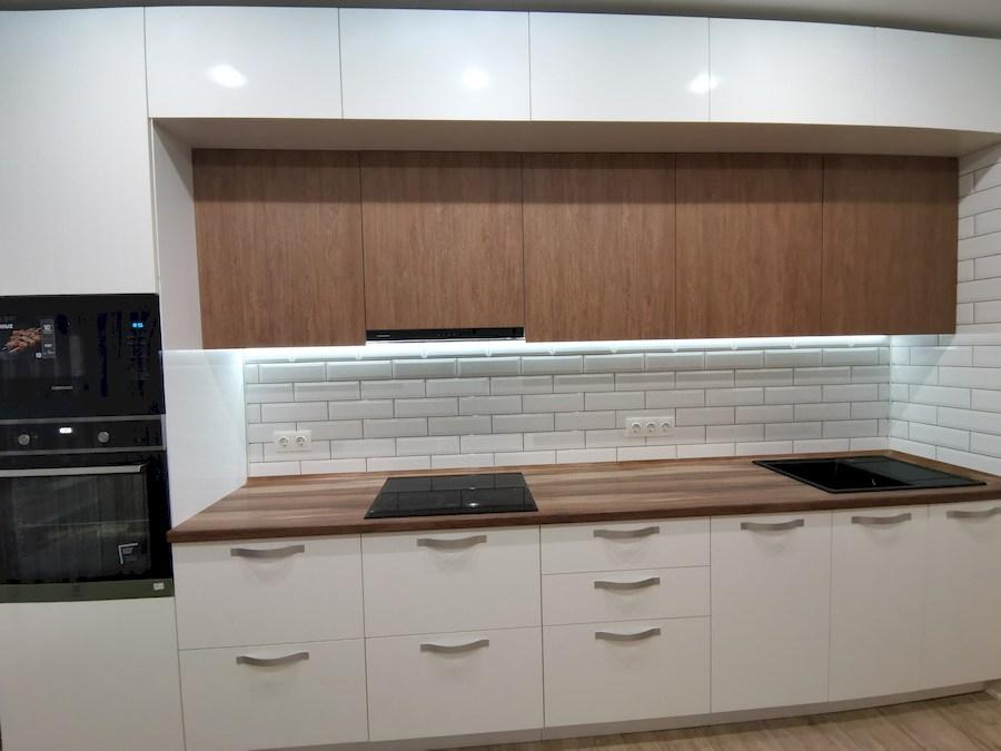 Белый кухонный гарнитур-Кухня МДФ в ПВХ «Модель 577»-фото3