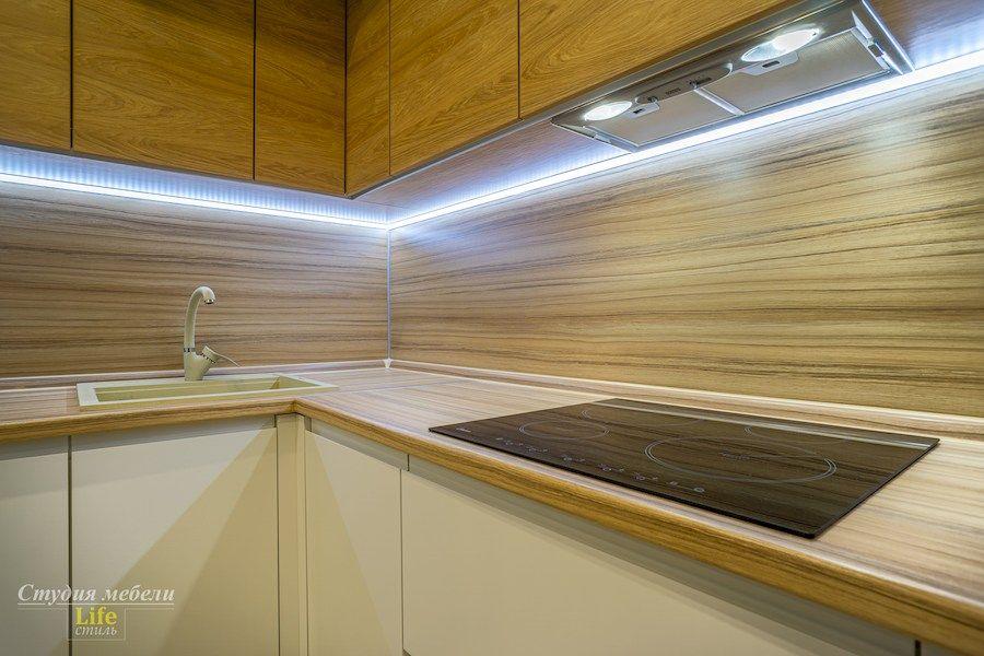 Белый кухонный гарнитур-Кухня МДФ в эмали «Модель 556»-фото8