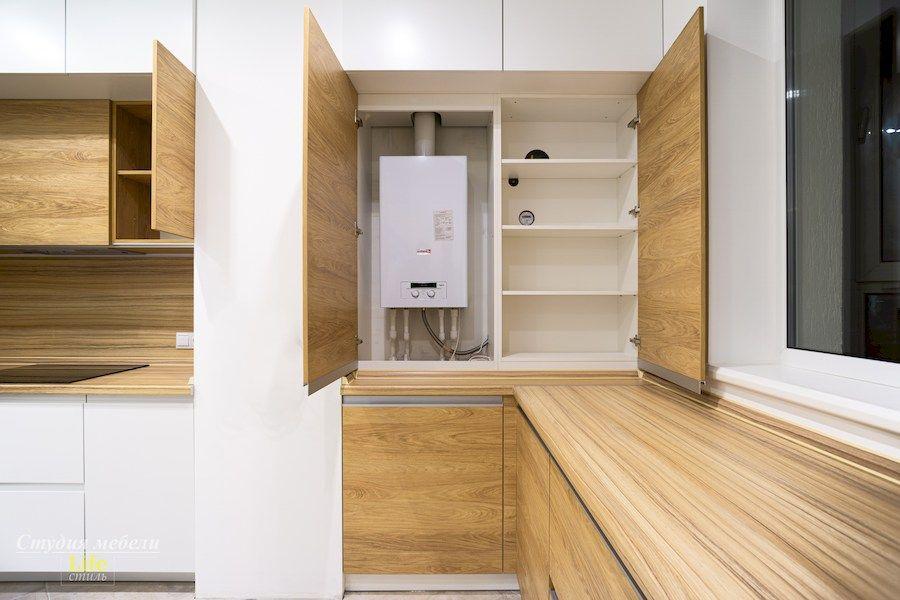 Белый кухонный гарнитур-Кухня МДФ в эмали «Модель 556»-фото7