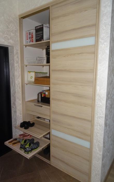 Встроенные шкафы-купе-Шкаф-купе из ЛДСП «Модель 46»-фото3