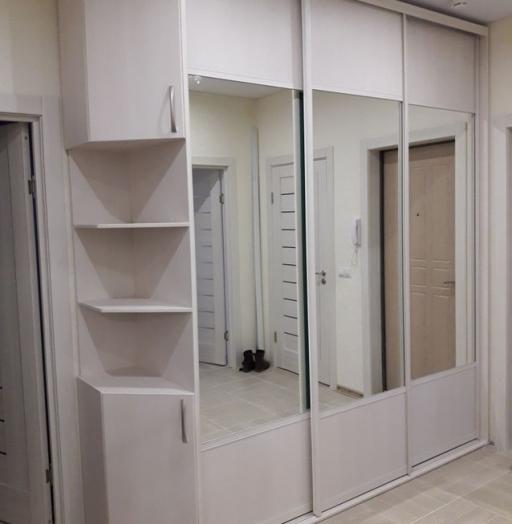 Белые шкафы-купе-Шкаф-купе с зеркалом «Модель 239»-фото5