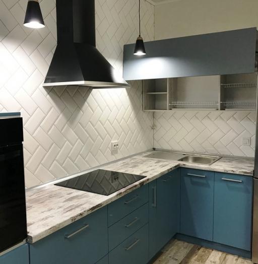 -Кухня из пластика «Модель 373»-фото1