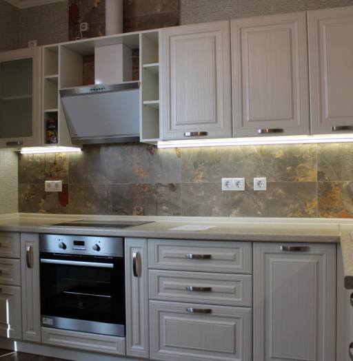 Акриловые кухни-Кухня из пластика «Модель 132»-фото6