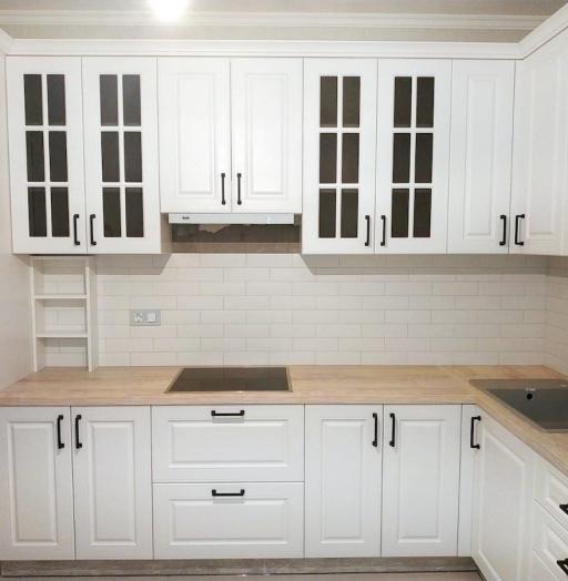 Белый кухонный гарнитур-Кухня МДФ в ПВХ «Модель 598»-фото5